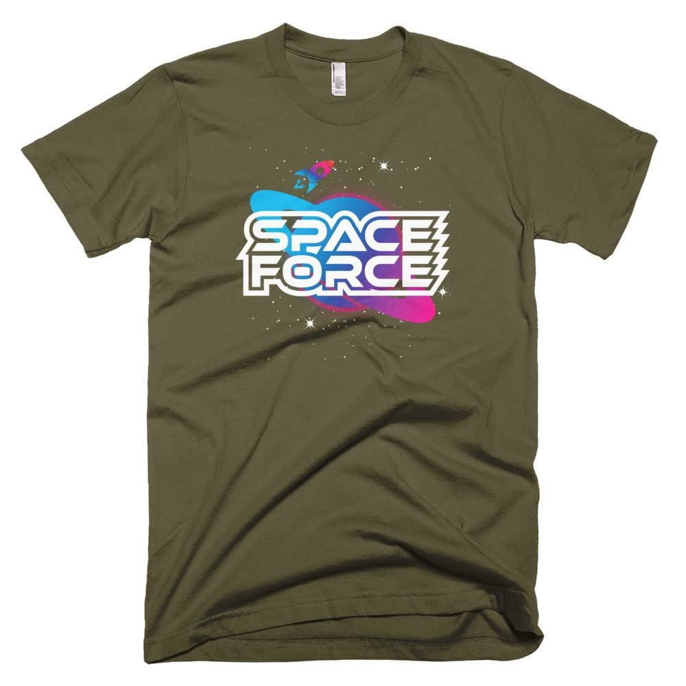 Space Force *MADE IN THE USA* Unisex T-shirt - Army / XS