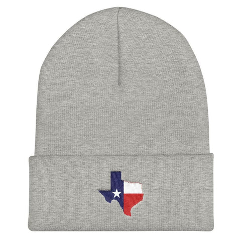 Texas Cuffed Beanie - Heather Grey