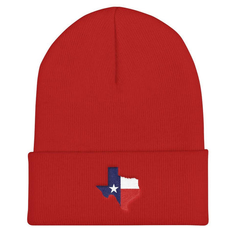 Image of Texas Cuffed Beanie - Red