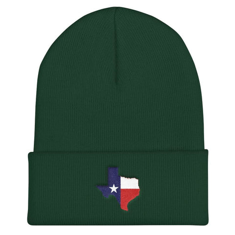Image of Texas Cuffed Beanie - Spruce