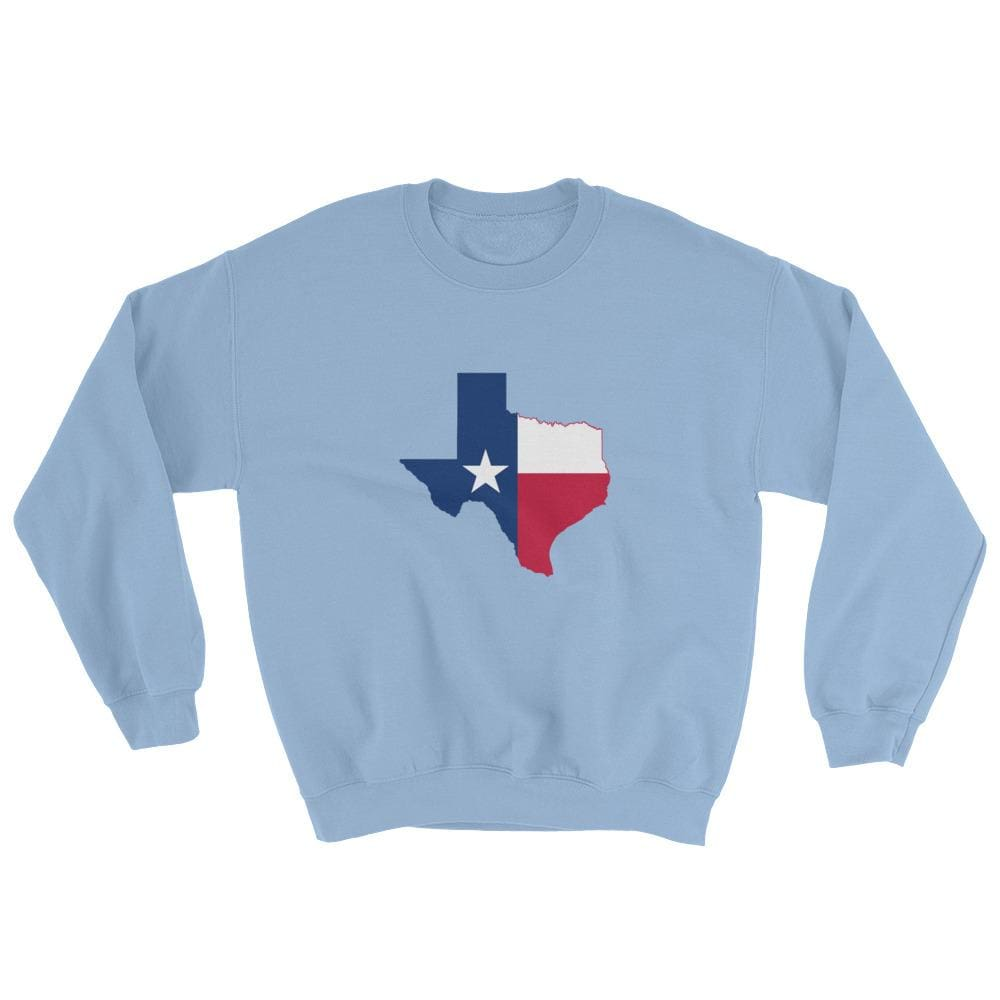 Texas Sweatshirt - Light Blue / S
