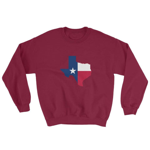 Image of Texas Sweatshirt - Maroon / S