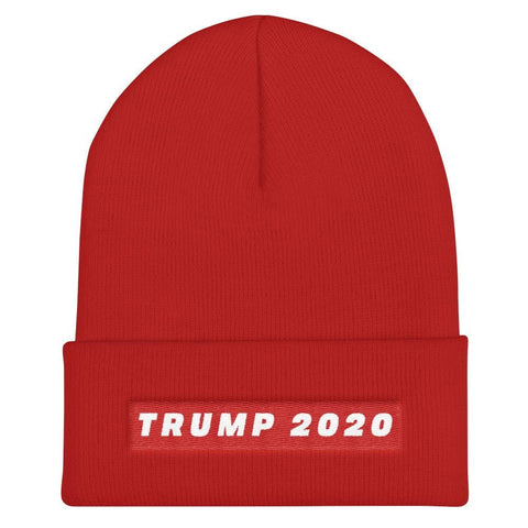Trump 2020 Cuffed Beanie - Red