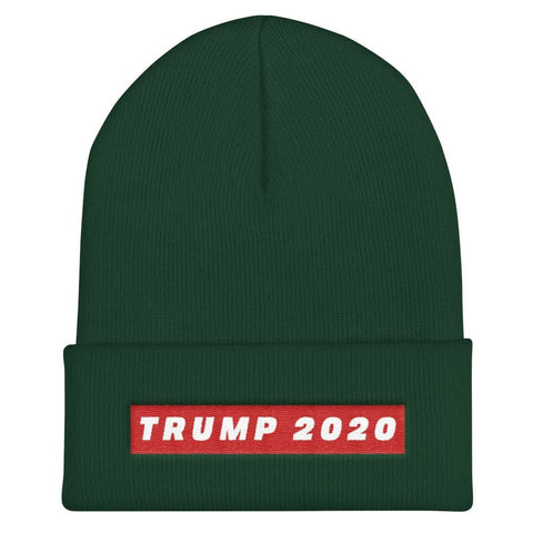 Image of Trump 2020 Cuffed Beanie - Spruce