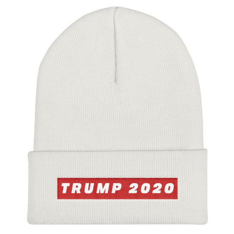 Trump 2020 Cuffed Beanie - White