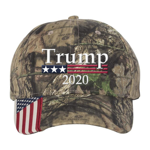 Trump 2020 *MADE IN THE USA* Hat - Mossy Oak Country
