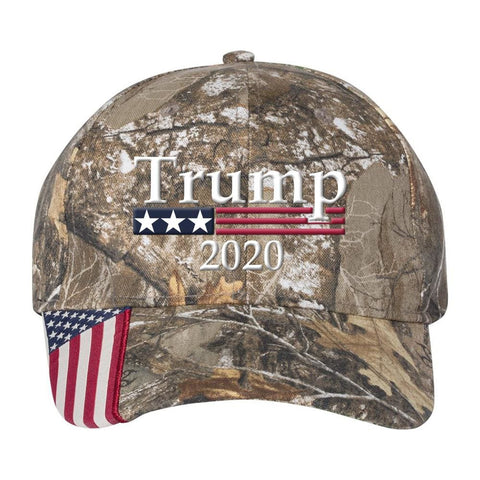 Image of Trump 2020 *MADE IN THE USA* Hat - Realtree Edge