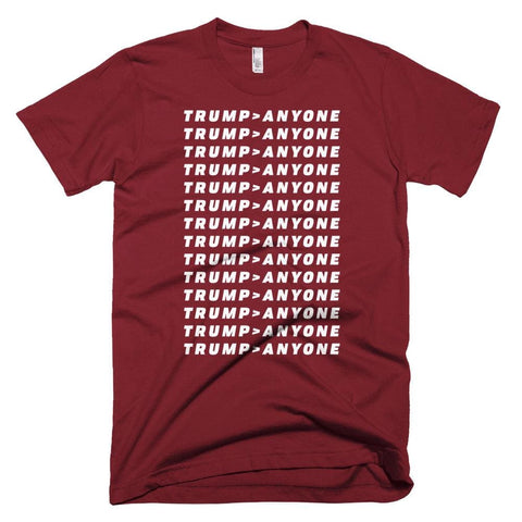 Image of Trump > Anyone *MADE IN THE USA* Unisex T-shirt - Cranberry / XS