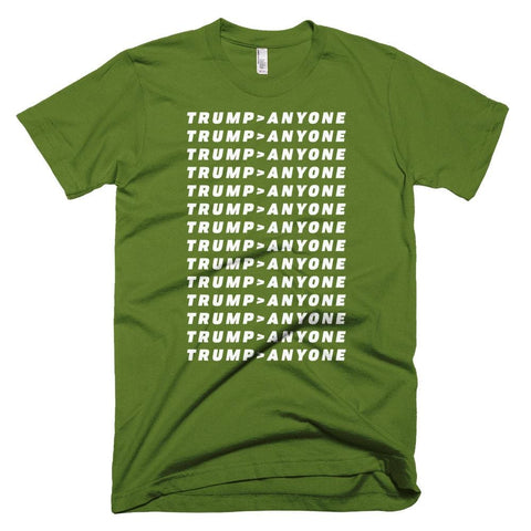 Image of Trump > Anyone *MADE IN THE USA* Unisex T-shirt - Olive / XS