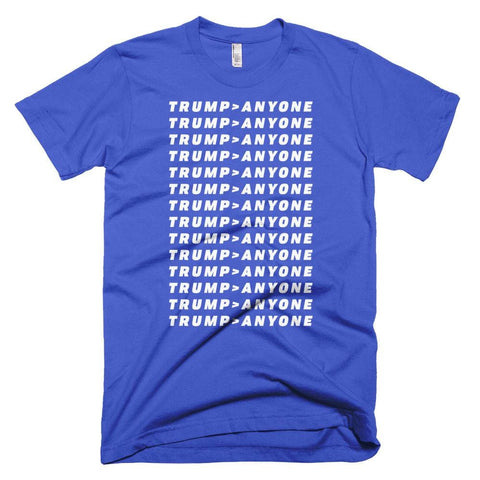 Image of Trump > Anyone *MADE IN THE USA* Unisex T-shirt - Royal Blue / XS