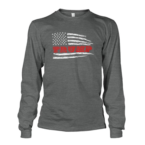Image of Trump Flag Long Sleeve - Dark Heather / S / Unisex Long Sleeve - Long Sleeves