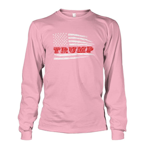 Image of Trump Flag Long Sleeve - Light Pink / S / Unisex Long Sleeve - Long Sleeves