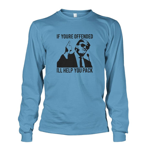 Image of Trump Ill Help You Pack Long Sleeve - Carolina Blue / S / Unisex Long Sleeve - Long Sleeves