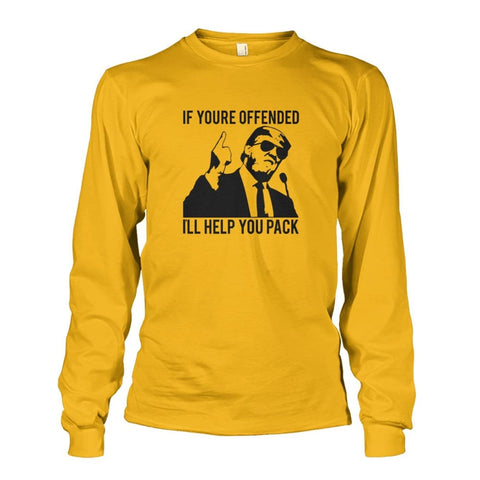 Image of Trump Ill Help You Pack Long Sleeve - Gold / S / Unisex Long Sleeve - Long Sleeves