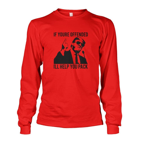 Image of Trump Ill Help You Pack Long Sleeve - Red / S / Unisex Long Sleeve - Long Sleeves