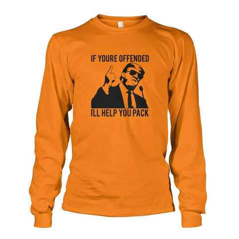Image of Trump Ill Help You Pack Long Sleeve - Safety Orange / S / Unisex Long Sleeve - Long Sleeves