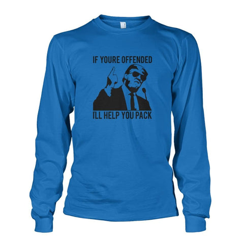Image of Trump Ill Help You Pack Long Sleeve - Sapphire / S / Unisex Long Sleeve - Long Sleeves