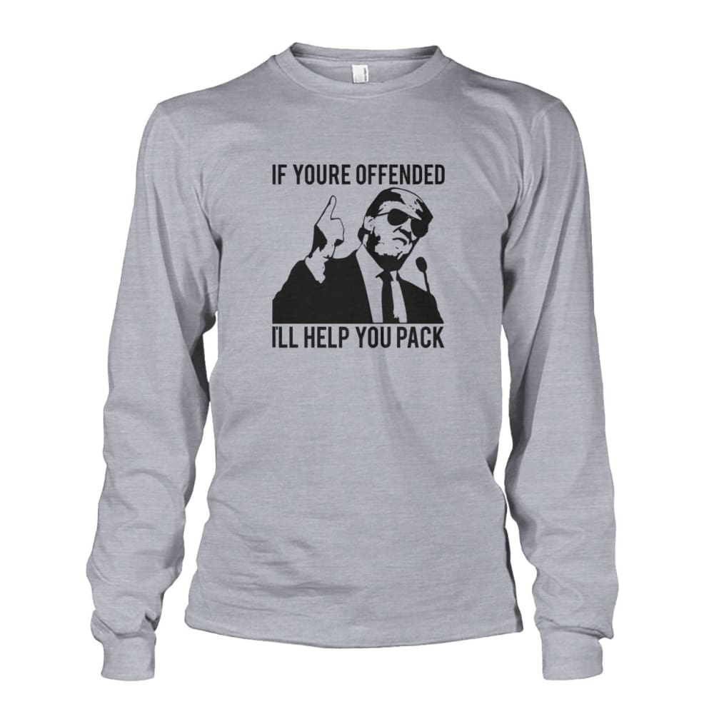 Trump Ill Help You Pack Long Sleeve - Sports Grey / S / Unisex Long Sleeve - Long Sleeves