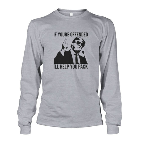 Image of Trump Ill Help You Pack Long Sleeve - Sports Grey / S / Unisex Long Sleeve - Long Sleeves