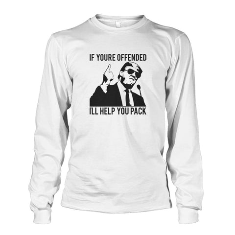 Image of Trump Ill Help You Pack Long Sleeve - White / S / Unisex Long Sleeve - Long Sleeves