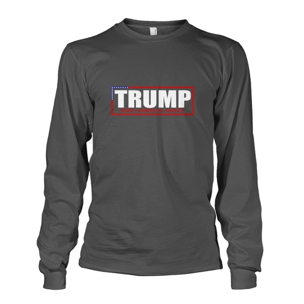 Trump Keep America Great Long Sleeve - Charcoal / S - Long Sleeves