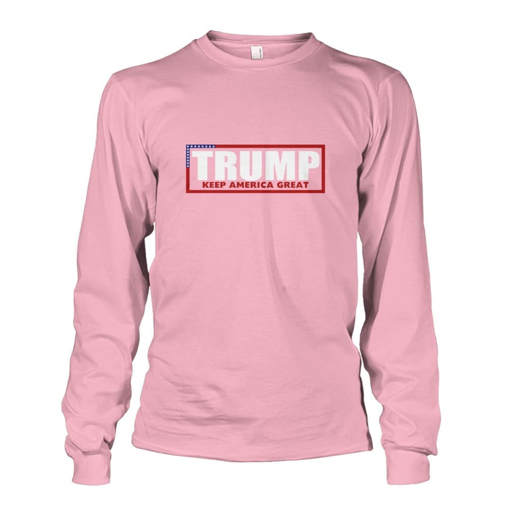 Trump Keep America Great Long Sleeve - Light Pink / S - Long Sleeves