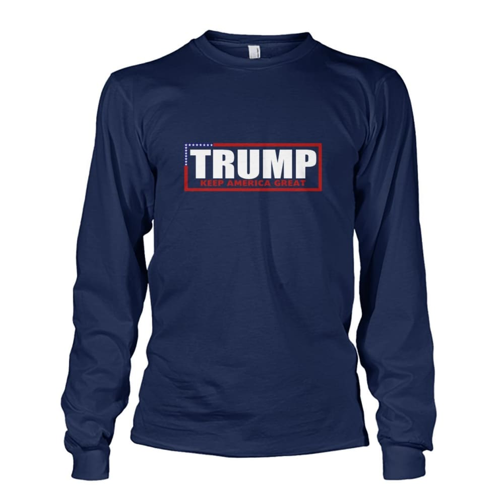 Trump Keep America Great Long Sleeve - Navy / S - Long Sleeves
