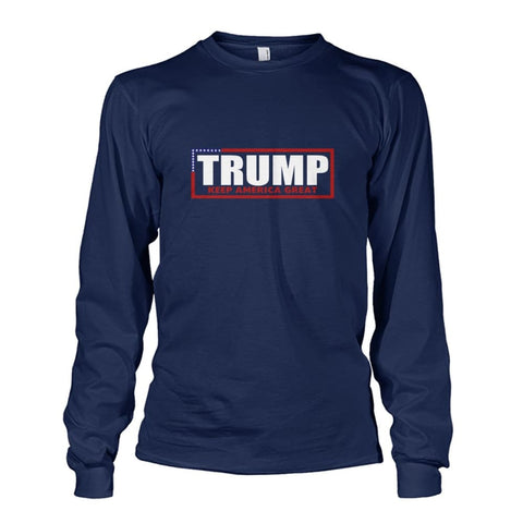 Image of Trump Keep America Great Long Sleeve - Navy / S - Long Sleeves