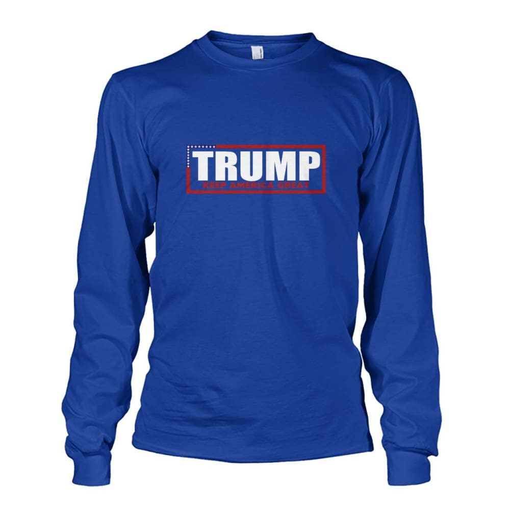 Trump Keep America Great Long Sleeve - Royal / S - Long Sleeves