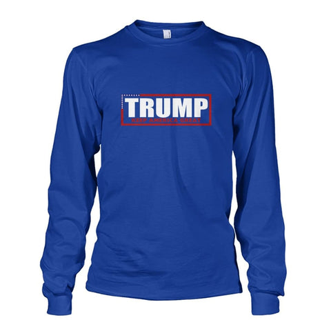Image of Trump Keep America Great Long Sleeve - Royal / S - Long Sleeves