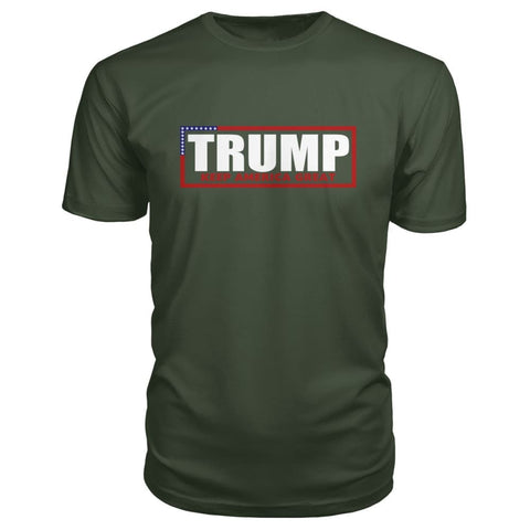 Image of Trump Keep America Great Premium Tee - City Green / S - Short Sleeves