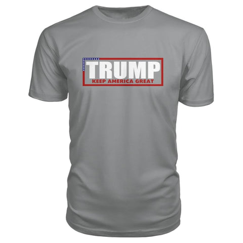 Image of Trump Keep America Great Premium Tee - Storm Grey / S - Short Sleeves