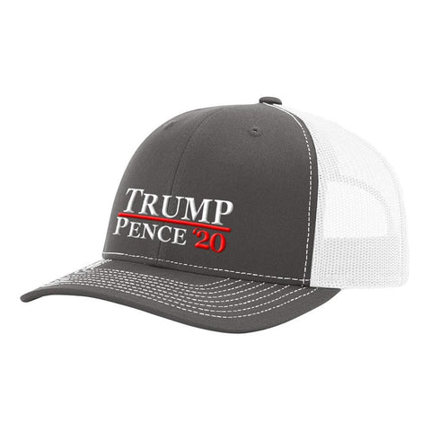 Image of Trump Pence 20 Hat - Charcoal & White - Hats
