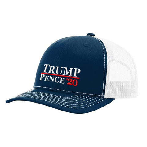 Image of Trump Pence 20 Hat - Navy & White - Hats