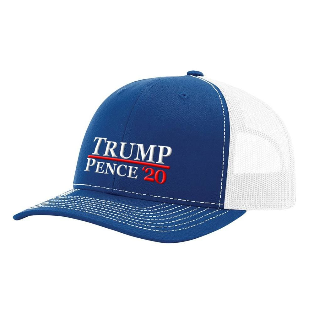 Trump Pence 20 Hat - Royal & White - Hats