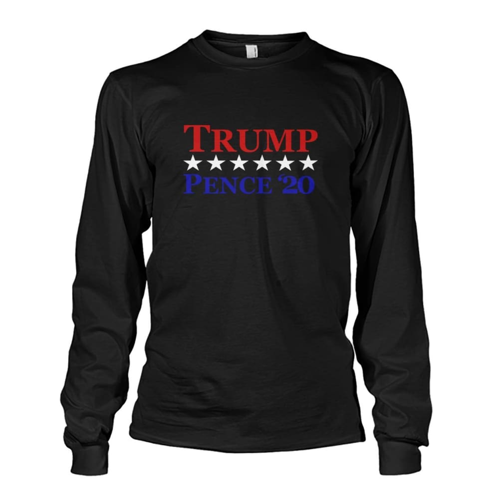 Trump Pence 20 Long Sleeve - Black / S / Unisex Long Sleeve - Long Sleeves