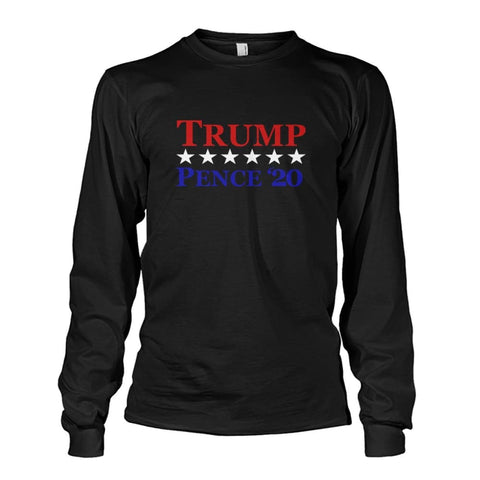 Image of Trump Pence 20 Long Sleeve - Black / S / Unisex Long Sleeve - Long Sleeves