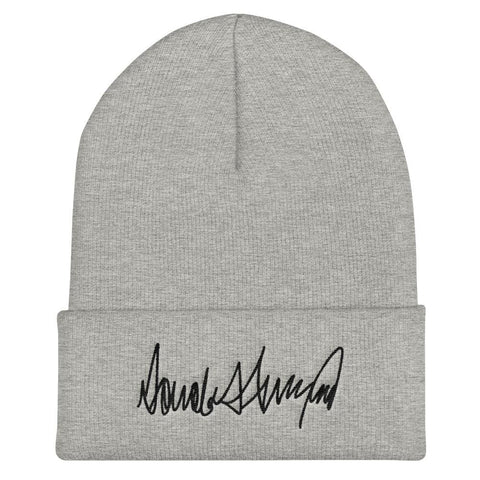 Trump Signature Cuffed Beanie - Heather Grey