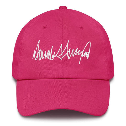 Image of Trump Signature *MADE IN THE USA* Hat - Bright Pink