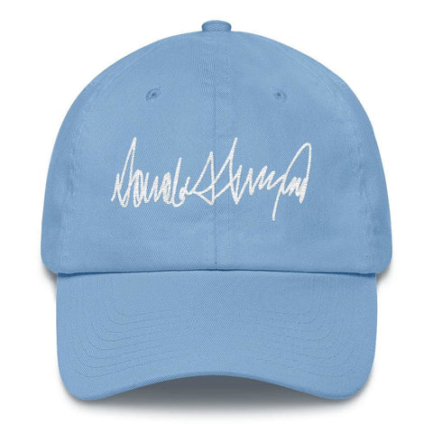 Image of Trump Signature *MADE IN THE USA* Hat - Carolina Blue