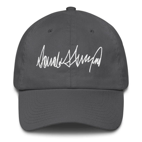 Image of Trump Signature *MADE IN THE USA* Hat - Charcoal