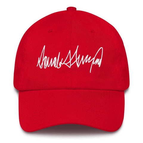 Image of Trump Signature *MADE IN THE USA* Hat - Red
