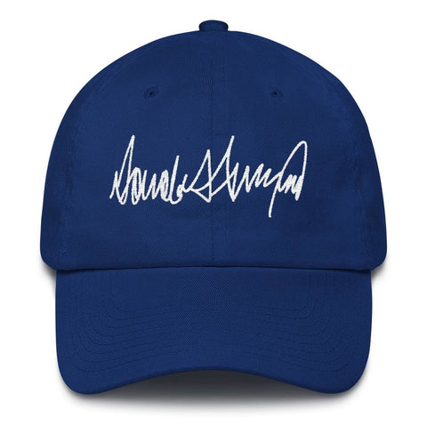 Image of Trump Signature *MADE IN THE USA* Hat - Royal Blue
