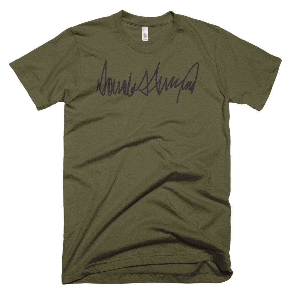 Trump Signature *MADE IN THE USA* Unisex T-shirt - Army / XS