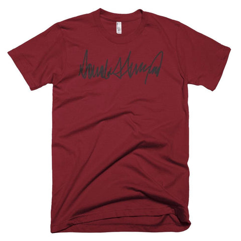 Image of Trump Signature *MADE IN THE USA* Unisex T-shirt - Cranberry / XS