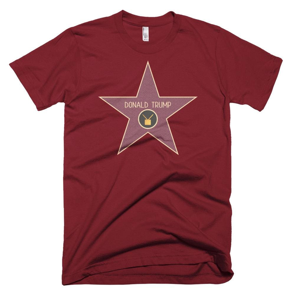 Trump Star *MADE IN THE USA* Unisex T-shirt - Cranberry / XS