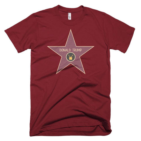 Image of Trump Star *MADE IN THE USA* Unisex T-shirt - Cranberry / XS