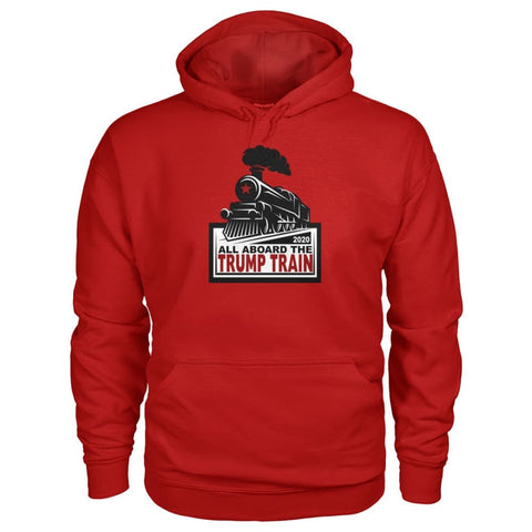 Image of Trump Train 2020 Hoodie - Cherry Red / S / Gildan Hoodie - Hoodies