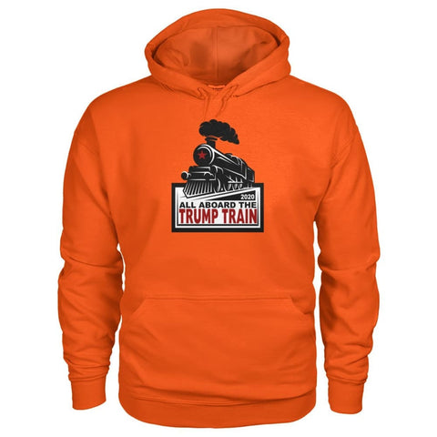 Image of Trump Train 2020 Hoodie - Orange / S / Gildan Hoodie - Hoodies