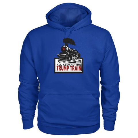 Image of Trump Train 2020 Hoodie - Royal / S / Gildan Hoodie - Hoodies